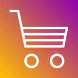 Shopping cart icon in trendy flat style isolated on grey background. Internet and ecommerce symbol for your design, logo, UI. Vect Royalty Free Stock Image