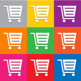 Shopping cart icon vector Royalty Free Stock Images