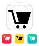 Shopping cart icon. Vector illustration Stock Photo