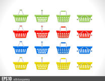 Shopping cart icon for website Stock Photos