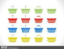 Shopping cart icon for website Stock Photos