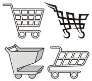 Shopping cart icons Stock Photos
