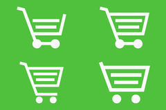 Shopping cart icons Royalty Free Stock Photo