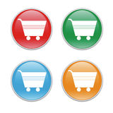 Shopping cart icons. Colorful icons for the web with shopping carts Royalty Free Stock Image