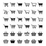 Shopping Cart Icons Royalty Free Stock Photography