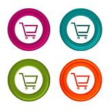 Shopping Cart icons. Sale signs. Shopping symbol. Colorful web button with icon. Eps10 Vector Stock Illustration