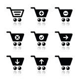 Shopping cart  icons set Royalty Free Stock Image