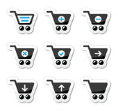 Shopping cart  icons set Stock Photos