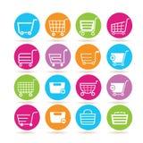 Shopping cart icons Royalty Free Stock Photo