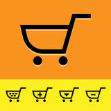 Shopping cart icons set great for any use. Vector EPS10. Stock Images
