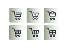 Shopping cart icons set Royalty Free Stock Photo