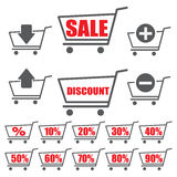 Shopping cart. Icons set from the shopping cart to trade Royalty Free Stock Images