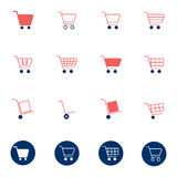 Shopping cart icons set vector illustration Stock Photo