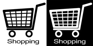 Shopping cart illustration Stock Image