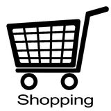 Shopping cart illustration Stock Photos