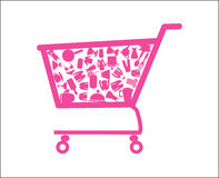 Shopping Cart Illustration Stock Images