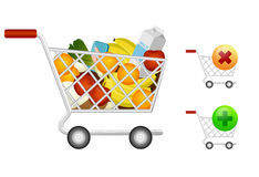 Shopping cart. Illustration of a shopping cart Royalty Free Stock Images