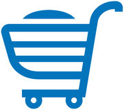Shopping cart illustration Royalty Free Stock Photography