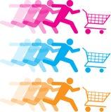 Shopping cart illustrations Stock Photos