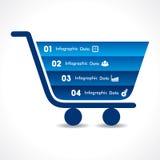 Shopping cart info-graphic design Royalty Free Stock Photos