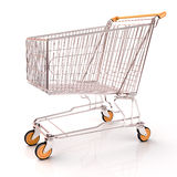 Shopping cart isolated Stock Photo