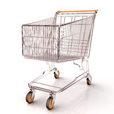 Shopping cart isolated Royalty Free Stock Photos