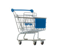 Shopping cart isolated. Over white Royalty Free Stock Photo