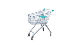 Shopping cart isolated over white Royalty Free Stock Photos