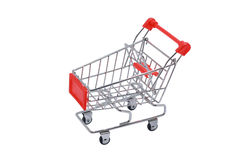 Shopping cart isolated on white royalty free stock photography
