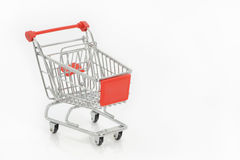Shopping cart isolated on white Royalty Free Stock Images