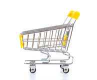 Shopping cart, isolated on white Royalty Free Stock Images