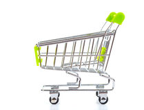 Shopping cart, isolated on white Stock Images