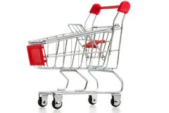 Shopping cart isolated Stock Photography