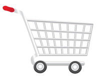 Shopping cart. A shopping cart isolated in a white background Royalty Free Illustration