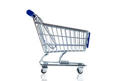 Shopping cart. Isolated on white background Royalty Free Stock Photos