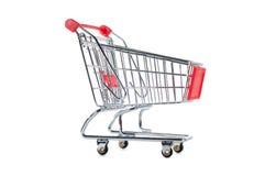 Shopping cart. Isolated on white background Stock Image
