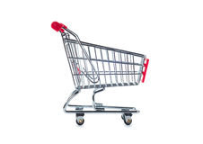 Shopping cart. Isolated on white background Royalty Free Stock Image