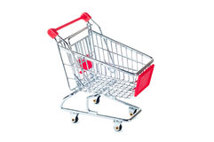 Shopping cart. Isolated on white background Royalty Free Stock Photography