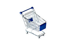 Shopping cart. Isolated on white background Royalty Free Stock Images