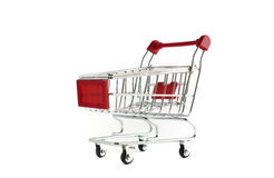 Shopping Cart Isolated On White Royalty Free Stock Photo