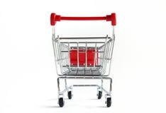 Shopping Cart Isolated On White Royalty Free Stock Image