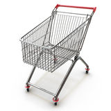 Shopping cart isolated on white background Royalty Free Stock Photography