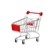 Shopping cart isolated on white background Stock Photography