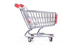Shopping cart isolated on white Royalty Free Stock Photo
