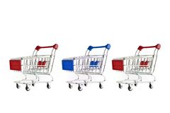 Shopping Cart Isolated On White Stock Photography