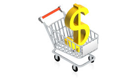 Shopping cart with item Stock Photos