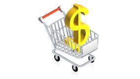 Shopping cart with item Stock Photos