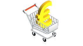 Shopping cart with item Stock Photography