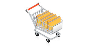 Shopping cart with item Stock Images