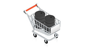 Shopping cart with item Stock Image
